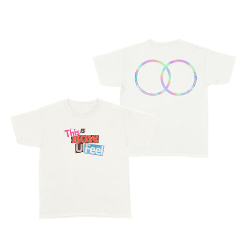 LOOTE- How You Feel- White T-Shirt (Pre-Order)