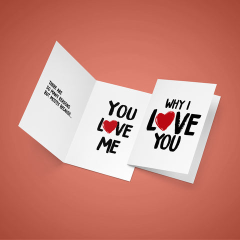 "MAJOR. - ""Why I Love You"" Musical Greeting Card"