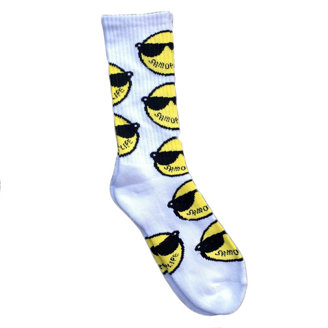 Kool John - SHMOPLIFE Socks (White)