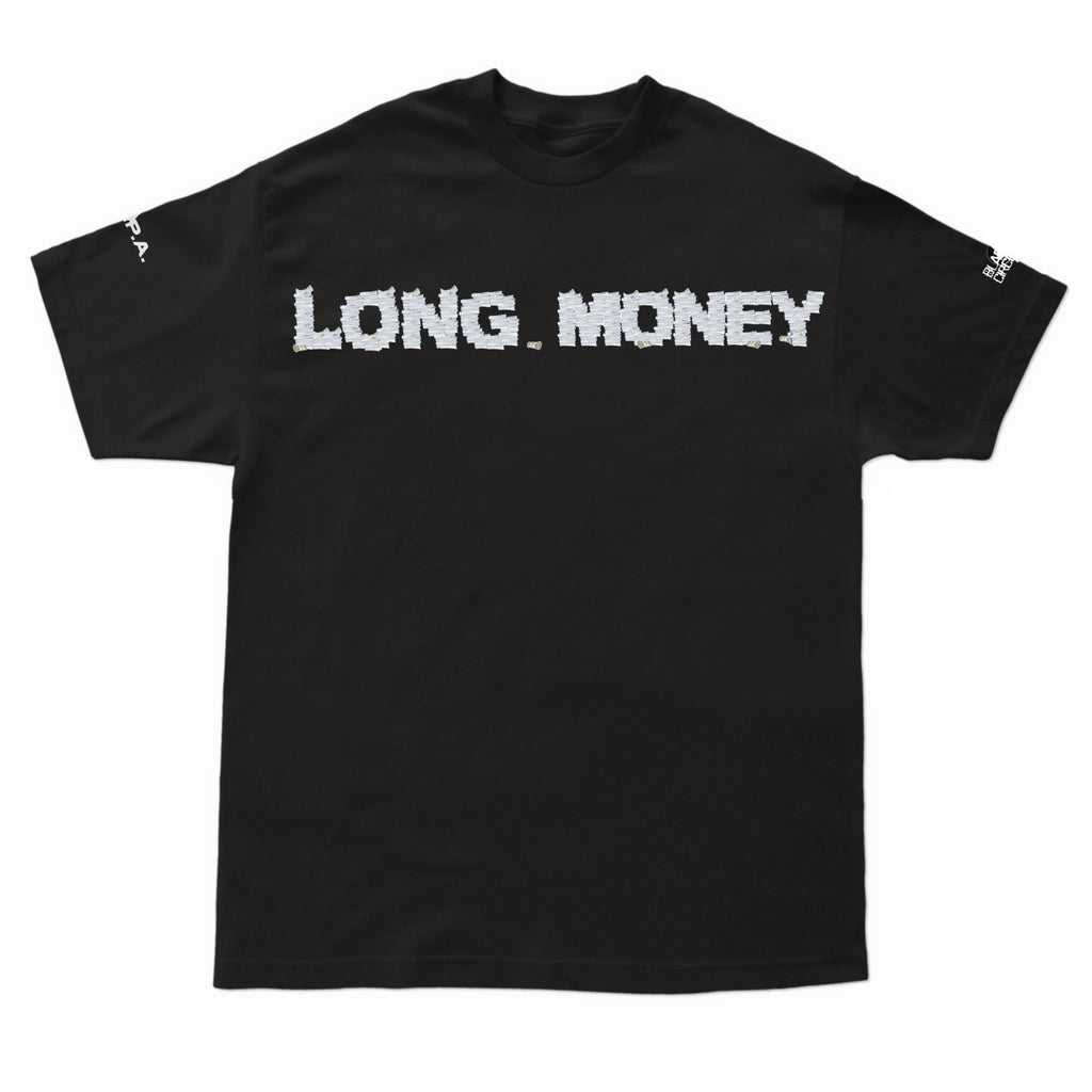 Long Money- Black Logo T Shirt