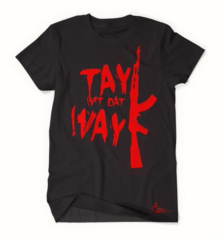 Tay Way - Black / Red T-Shirt