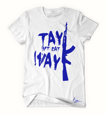 Tay Way - White / Blue T-Shirt