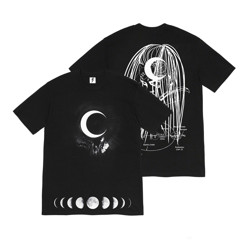 Kid Trunks- Moon - Black Tee (Pre-Order) + Download