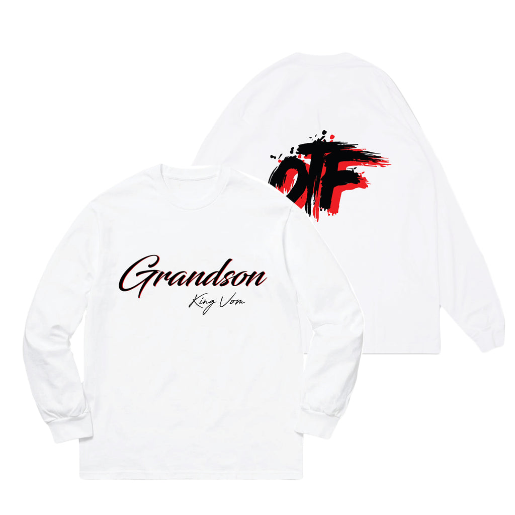 White OTF Longsleeve + Album Download