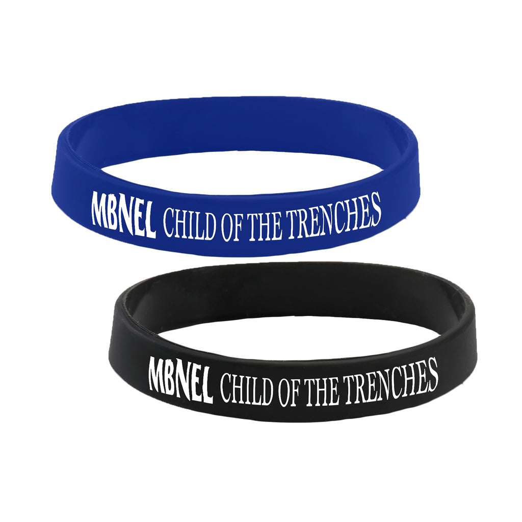 MBNEL- Child OF The Trenches- Blue & Black Wristband