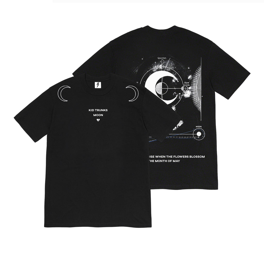Kid Trunks- Moon Reach- Black Tee (Pre-Order)