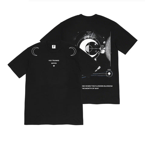 Kid Trunks- Moon Reach- Black Tee