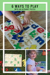 6 ways to play with an Alphabet Puzzle