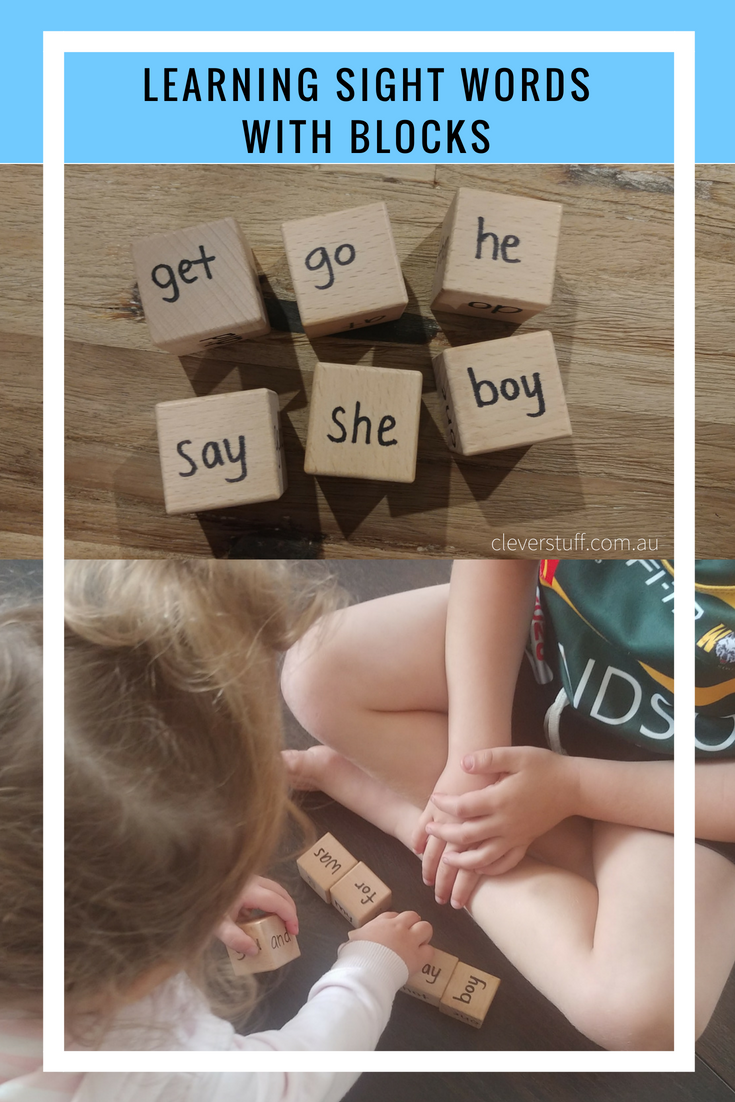 Learning Sight Words with Blocks