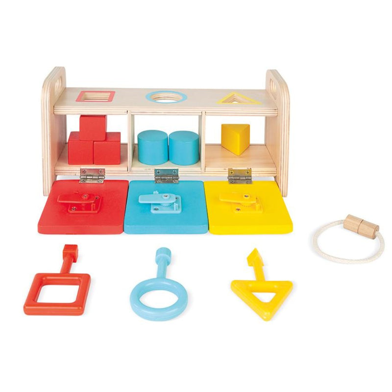 Shape Boxes with Blocks and 3 Keys