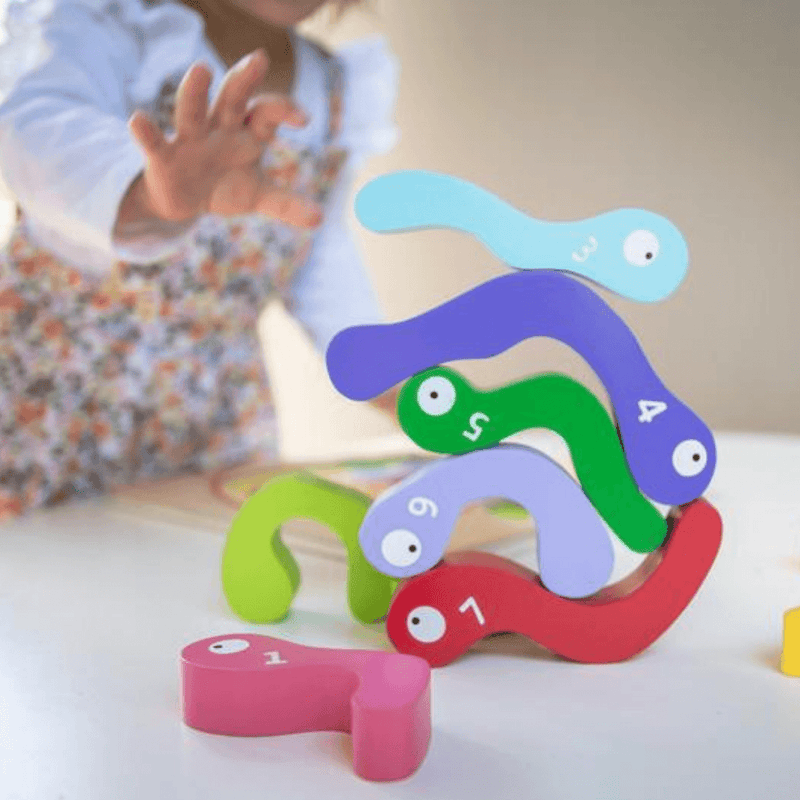 123 Wooden Worm Puzzle