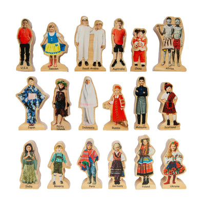 Wooden People Around the World