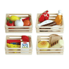 Wooden Pretend Food in 4 Wooden Crates