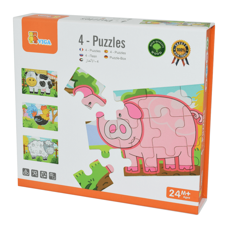 4 in 1 Jigsaw Puzzle - Farm