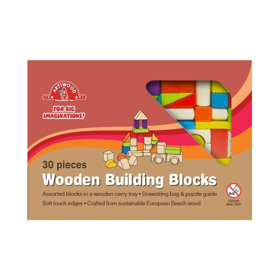 30 Piece Wooden Block Tray