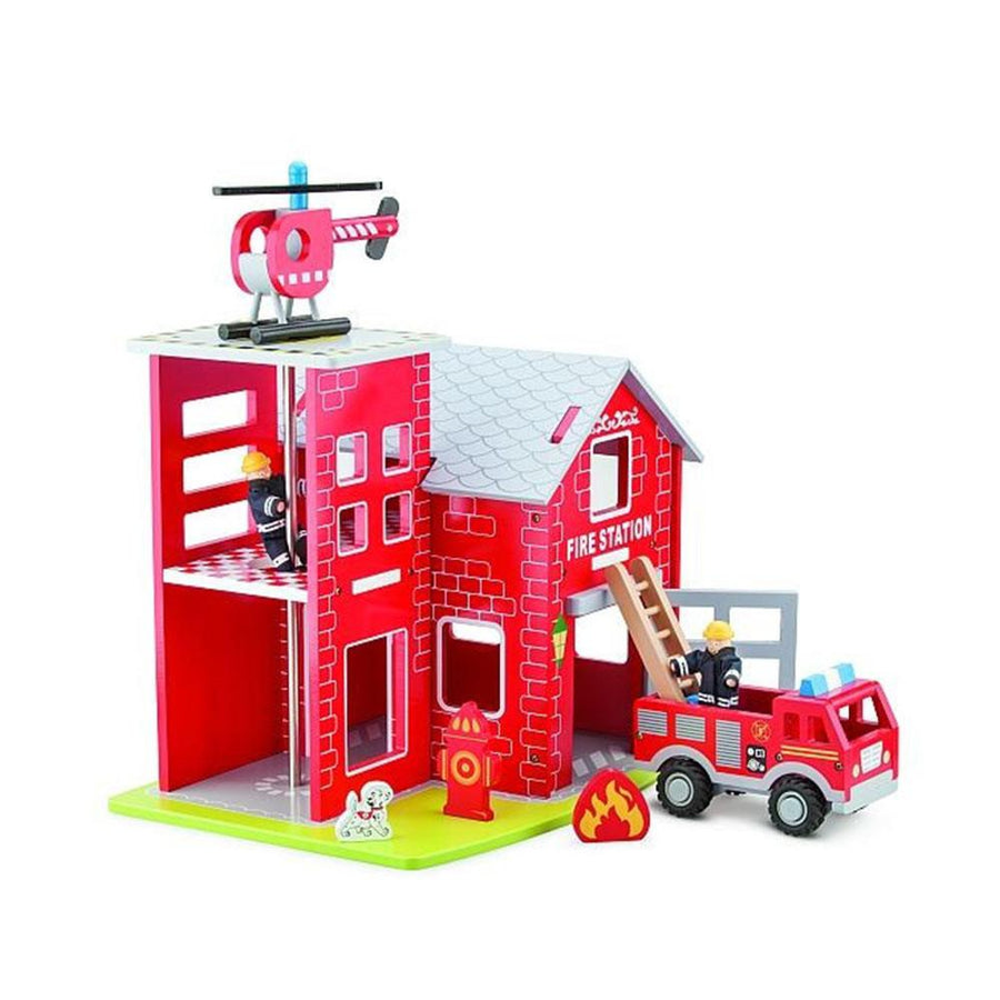 New Classic Toys - Large Fire Station - CleverStuff