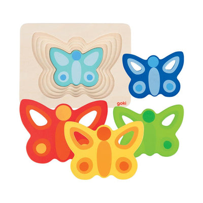 Layered Butterfly Puzzle