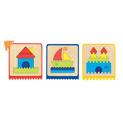 Wooden Touch Puzzles - Set of 3