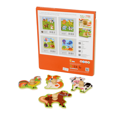 Big Knob Puzzle - Farm Animals