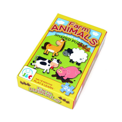 Wooden Farm Animal Puzzle - Set of 6