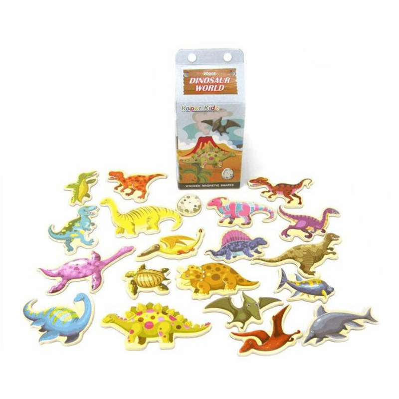 Magnetic Dinosaurs in a Milk Carton