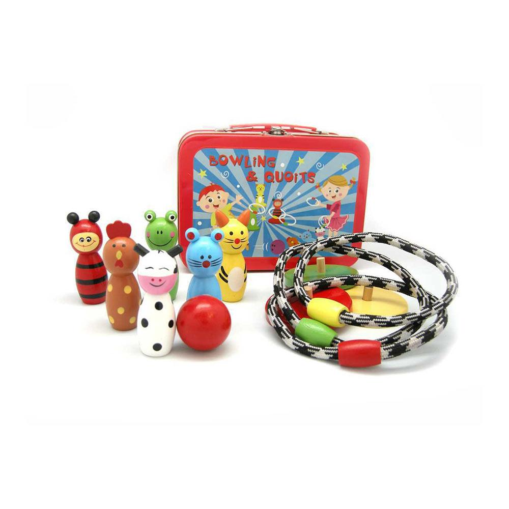 CleverStuff - Bowling & Quoit Set in Tin Box - CleverStuff