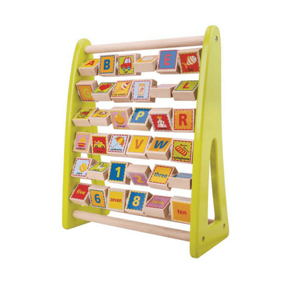 Tooky Toy - Wooden Alphabet Abacus - CleverStuff