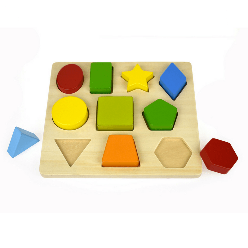 10 Shape Wooden Chunky Puzzle