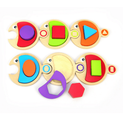 Kaper Kidz - Fish Puzzle with Shape Blocks - CleverStuff