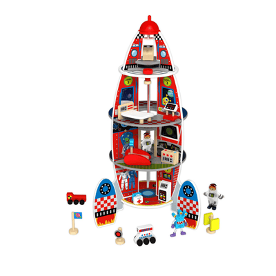 Wooden Rocket Ship Playset