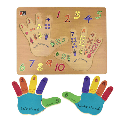 Colourful Hand Puzzle