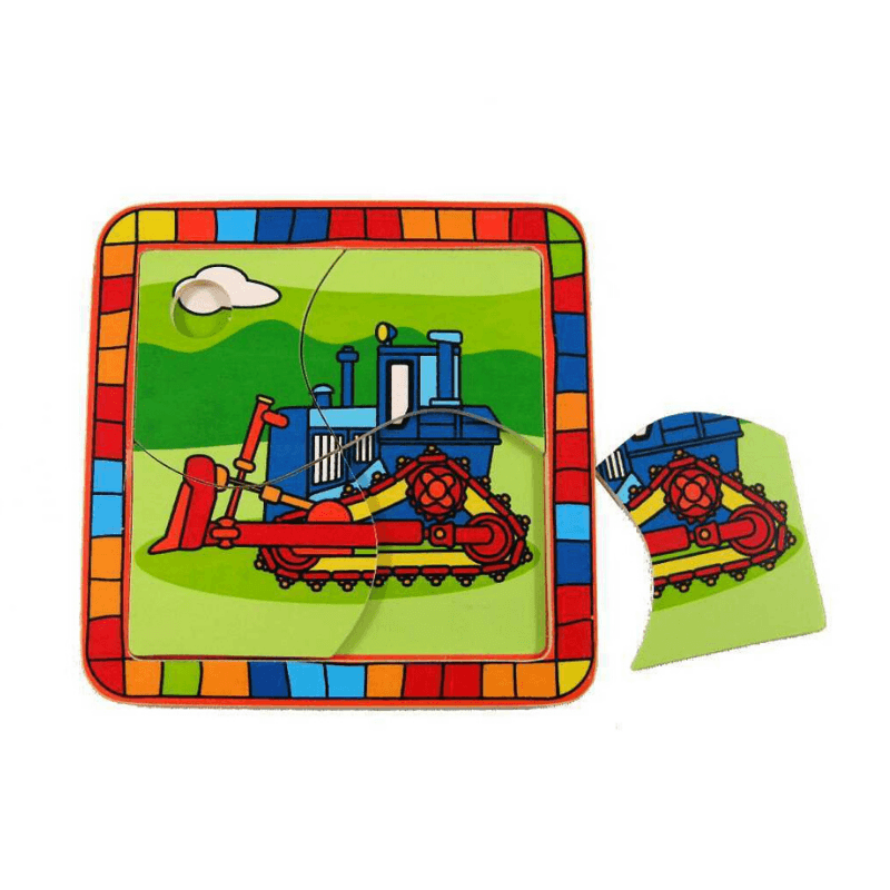 Bulldozer Puzzle - 4 pieces