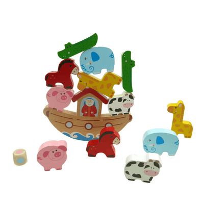 Wooden Balancing Noah's Ark Game