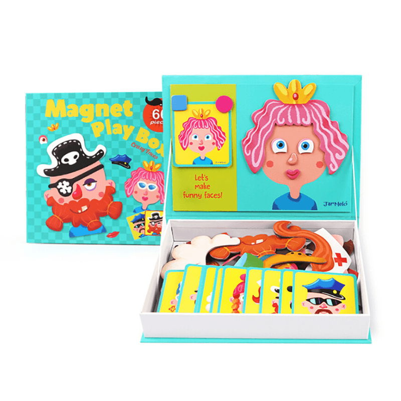 Crazy Faces Magnetic Play Box