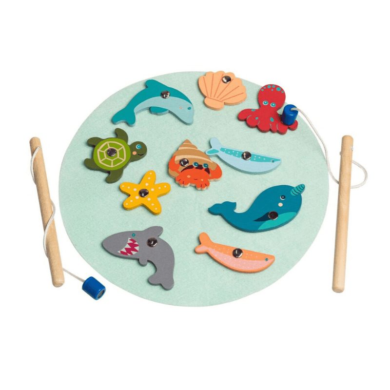 Wooden Pastel Fishing Game