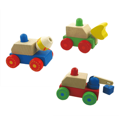 Beeping Wooden Vehicles