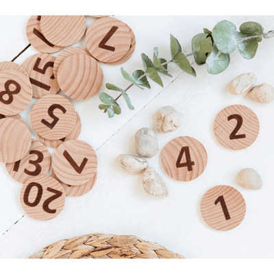 Tactile Wooden Number Set - 40 pieces