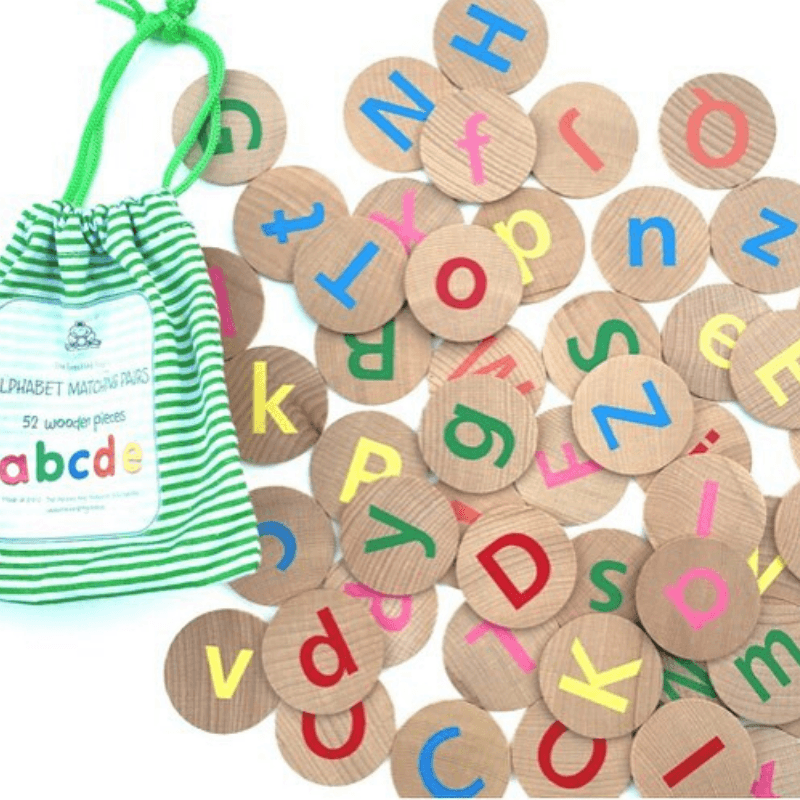 Alphabet Matching Pairs - 52 pieces