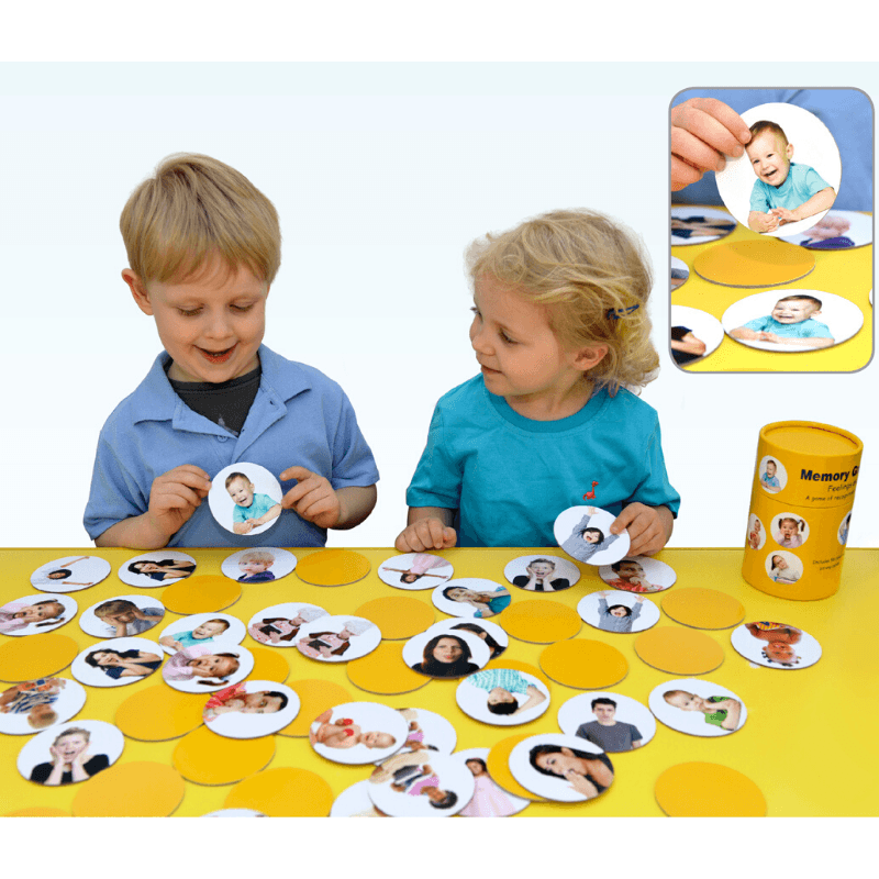 Feeling and Emotions Matching Pairs Game - 56 pieces