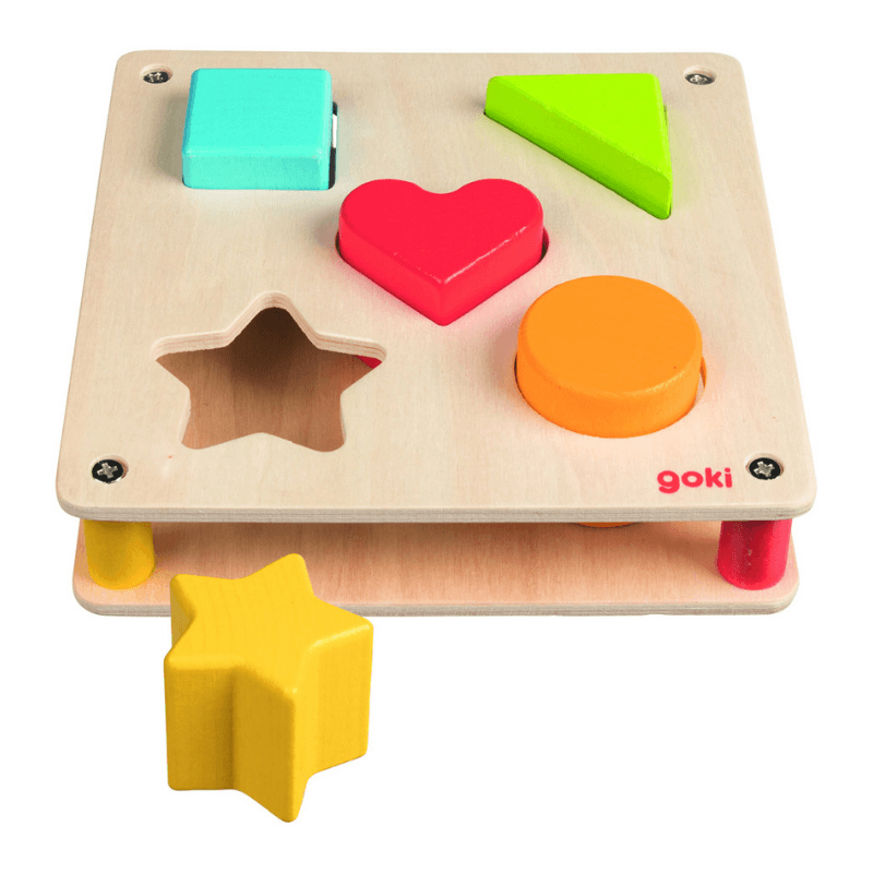 Wooden Shape Sorting Tray