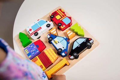 Chunky Vehicle Puzzle with Magnets