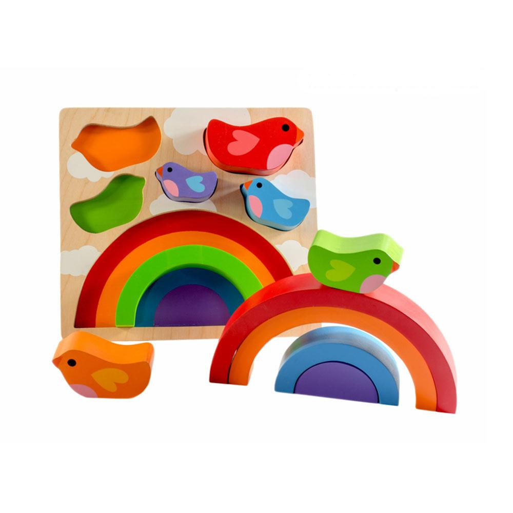 Kiddie Connect - Bird and Rainbow Puzzle - CleverStuff
