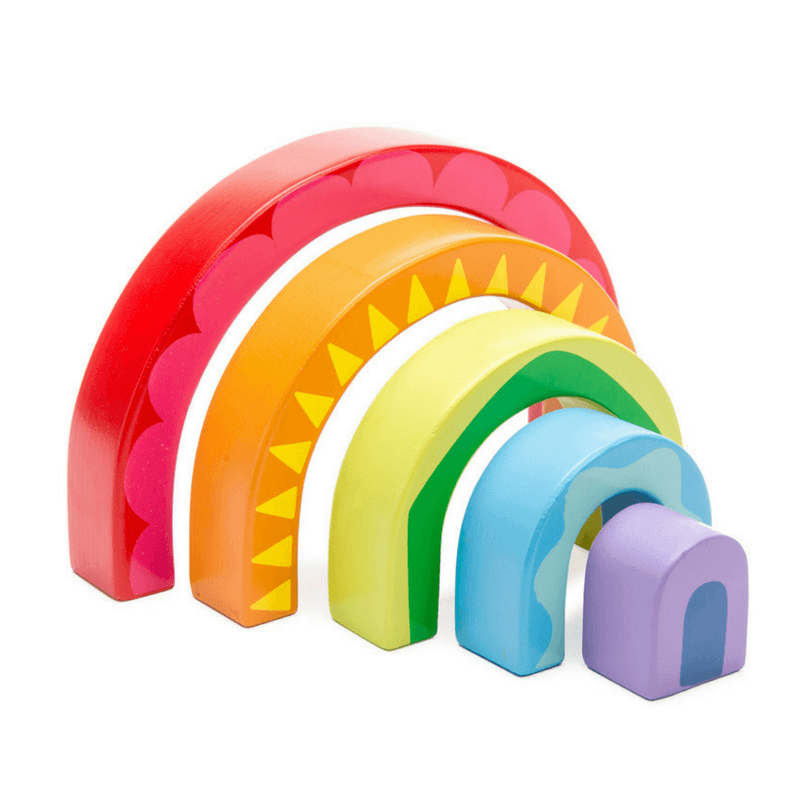 Le Toy Van - Rainbow Wooden Tunnel Toy - CleverStuff