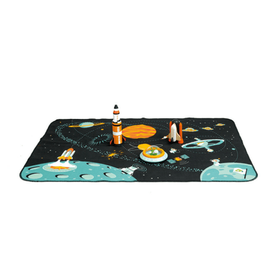 Space Play Mat with Rocket Accessories
