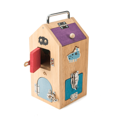 Monster Lock Box with Shape Sorting Pieces