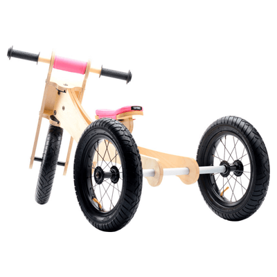 Wooden 4 in 1 Trybike - Pink