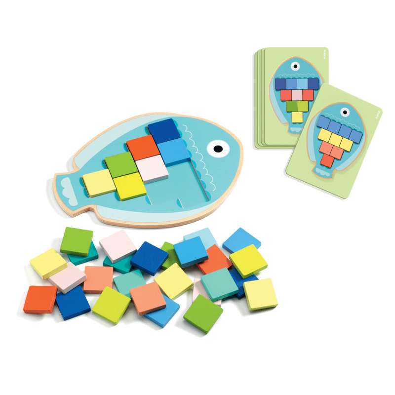 Mosaic Fish Game with Cards