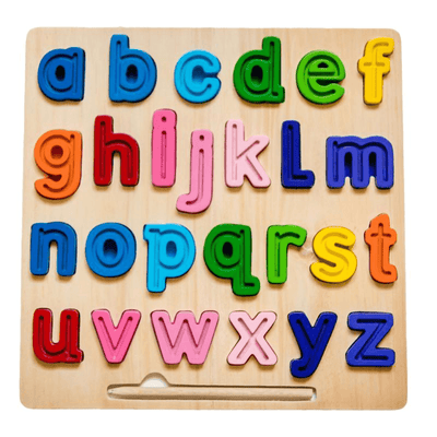 Lowercase Chunky Tracing Puzzle