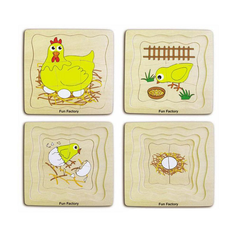 Fun Factory - Wooden Chicken Lifecycle - 4 layer - CleverStuff