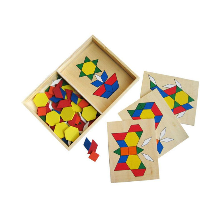 Fun Factory - Wooden Pattern Blocks - CleverStuff